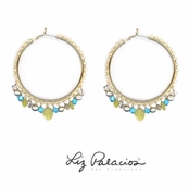 Flores Swarovski Crystal Fancy Hoops by Liz Palacios