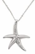 Starfish CZ Necklace