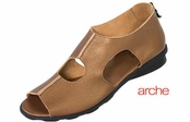 Arche Pepita Metallic Calfskin Leather Defool Sandals