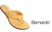 Camel Dusty Vintage Calfskin Miami Sandals by Bernardo