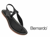 Black Dusty Vintage Calfskin Mistral Sandals by Bernardo