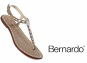 Nougat Dusty Vintage Calfskin Leather Studded Sandals by Bernardo