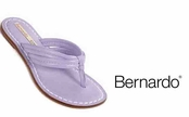 Lilac Dusty Vintage Calfskin Miami Sandals by Bernardo