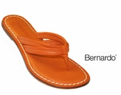 Miami Brights Clementine Orange Nappa Leather Sandals by Bernardo