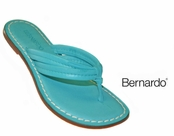 Miami Brights Swimming Pool Blue Nappa Leather Sandals by Bernardo