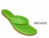 Miami Brights Lime Green Nappa Leather Sandals by Bernardo