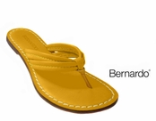 Miami Brights Lemon Yellow Nappa Leather Sandals by Bernardo
