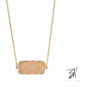 Belle Noel Molten Gold Rectangle Station Necklace