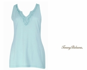 Graceful Sea Presley Embellished Neckline Tank by Tommy Bahama