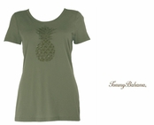 Mudstone Pineapple Treat Tee by Tommy Bahama