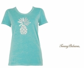 Bristol Blue Have a Beaded Pineapple Tee by Tommy Bahama