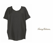 Black Sand Piper Silk Top by Tommy Bahama