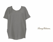 Gunmetal Sand Piper Silk Top by Tommy Bahama