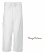 White Alani Terry Cropped Pants by Tommy Bahama