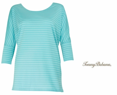 Waterfall 2 Malina Stripe Tee by Tommy Bahama