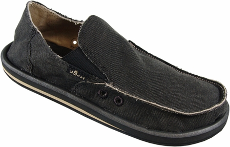 Men's Charcoal Vagabond Sidewalk Surfers by Sanuk