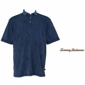 Indigo Etch Me If You Can Polo Shirt by Tommy Bahama
