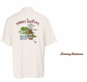 Coconut Daily Dose of Iron Signature Silk Camp Shirt by Tommy Bahama