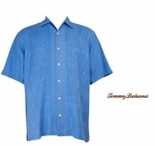 Rip Tide Bamboo Borders Silk Camp Shirt by Tommy Bahama