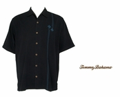 Black Club Paradise Silk Camp Shirt by Tommy Bahama
