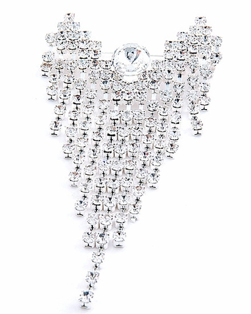 Swarovski Crystal Cascading Angel Pin