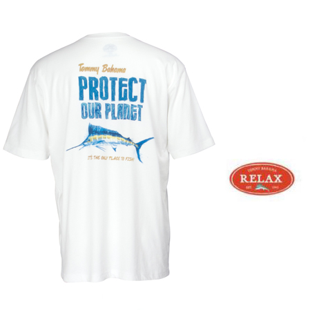 White Protect Our Planet Tee by Tommy Bahama