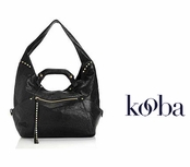 Kooba Black Tegan Convertible Hobo