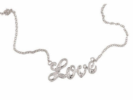 Hawaiian Scroll Love Sterling Silver Necklace