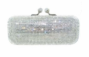 White Diamond Swarovski Crystal Handbag