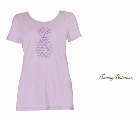 Fair Orchid Pineapple Treat Tee by Tommy Bahama