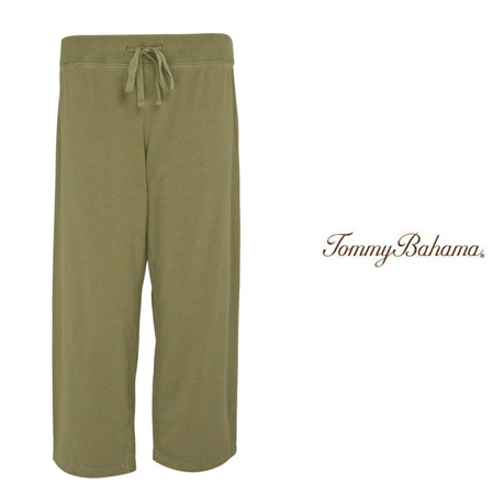 Mudstone Very Terry Straight Leg Crop Pants by Tommy Bahama