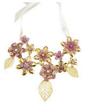 Floral Blush Necklace by Spring Street
