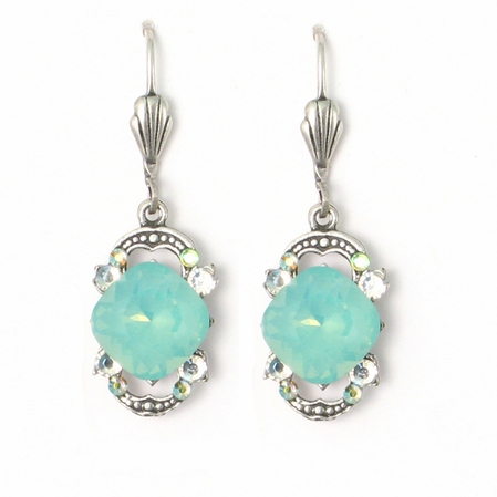 Swarovski Crystal Pacific Opal Drop Earrings by Anne Koplik