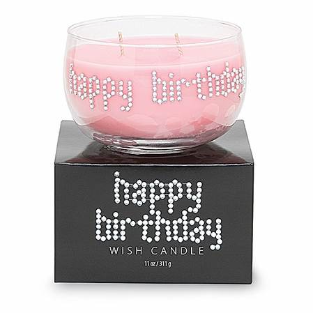 Crystal Happy Birthday Wish Candle by Primal Elements