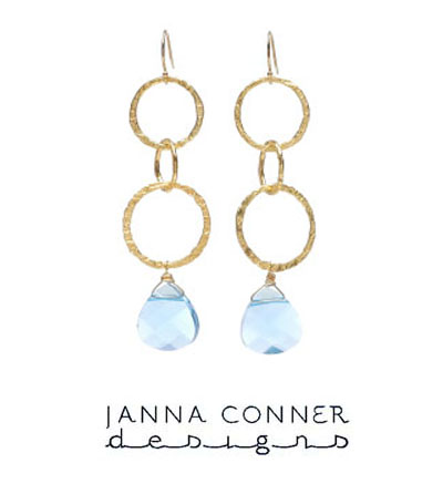 Gold Loren Swarovski Crystal Earrings by Janna Conner