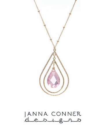 Gold Textured Nichelle Necklace by Janna Conner
