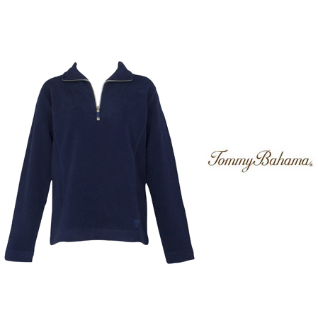 Coastline Navy New Aruba Zip by Tommy Bahama