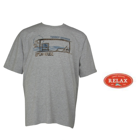 Grey Heather Open House Tee by Tommy Bahama