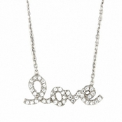 Love CZ Sterling Silver Necklace