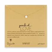 Dogeared Pearls of Love Gold Dipped Reminder Necklace