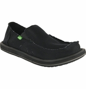 Men's Black Vagabond Sidewalk Surfers by Sanuk