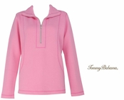 Bright Pink Aruba Half Zip Sweatshirt by Tommy Bahama