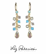 Flores Swarovski Crystal Linear Drop Earrings by Liz Palacios
