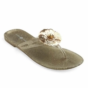 Gold Mandy Jelly Flip Flops by Lindsay Phillips