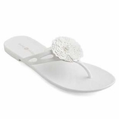 White Mandy Jelly Flip Flops by Lindsay Phillips