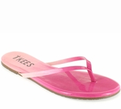 Tkees Blends Collection Pink Drizzle Leather Sandals