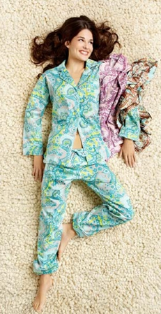 BedHead Palm Springs Paisley Pool Sateen Classic PJ Set