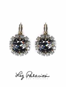 Swaroski Crystal Silver Night Leverback Earrings by Liz Palacios