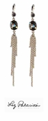 Swarovski Crystal Silver Night Multi Chain Drop Sweeper Earrings by Liz Palacios