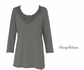 Gunmetal Presley Toil Scoop Neck Tee Shirt by Tommy Bahama